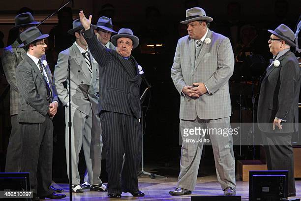 'Guys and Dolls' at Carnegie Hall on Thursday night April 3 2014This imageFrom left Nathan Lane Steve Schirripa and Lee Wilkof