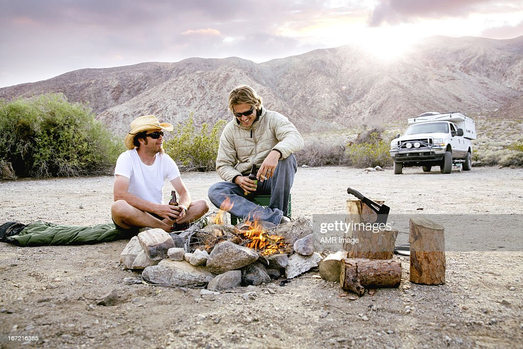 Guys camping trip : Stock Photo