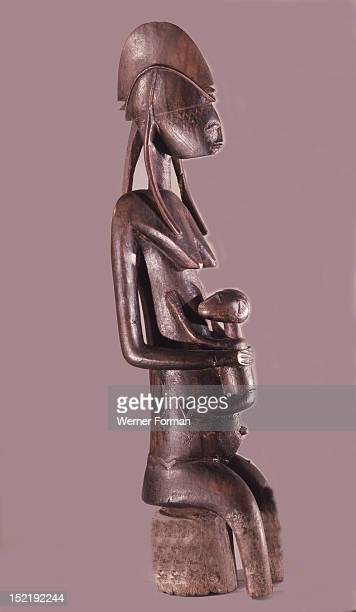 A Gwandusu figure kept in the shrine of the womens Gwan society which promoted fertility and cured problems associated with pregnancy The figure...