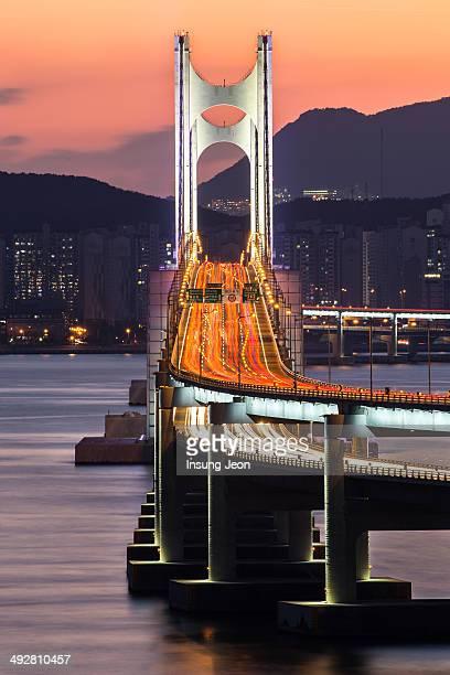 Gwangan Bridge at night