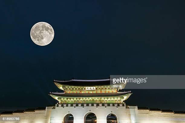 Gwanghwamun Gate in Seoul, South Korea.