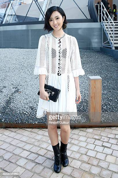 Gwei Lun Mei attends the Louis Vuitton show as part of the Paris Fashion Week Womenswear Fall/Winter 2015/2016 on March 11 2015 in Paris France