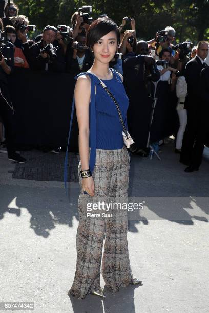 Gwei LunMei arrives at the Chanel Haute Couture Fall/Winter 20172018 show as part of Haute Couture Paris Fashion Week on July 4 2017 in Paris France