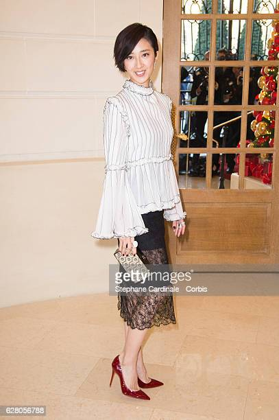 Gwei LunMei attends the 'Chanel Collection des Metiers d'Art 2016/17 Paris Cosmopolite' Photocall At Hotel Ritz on December 6 2016 in Paris France