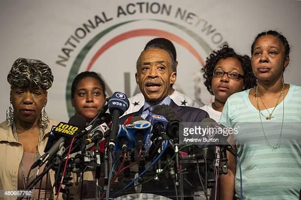 Gwen Carr Eric Garner's mother Erica Garner Eric Garner's daugter the Reverend Al Sharpton of the National Action Network Eric Garner Eric Garner's...