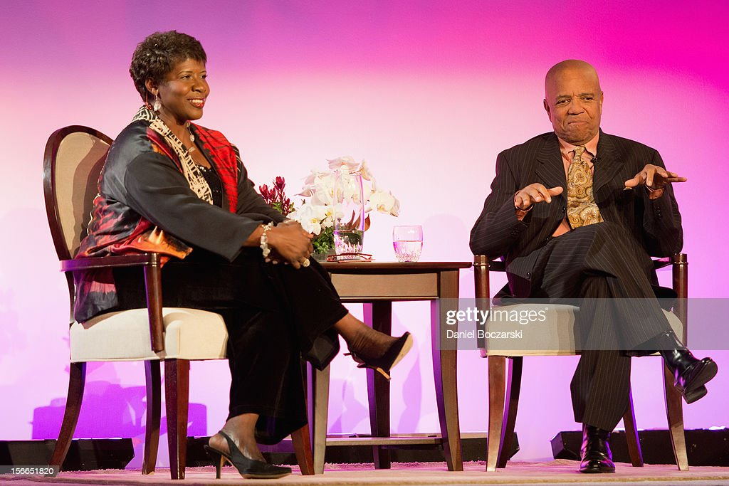 Gwen Ifill and Berry Gordy attend An Evening with Berry Gordy at the Art Institute Of Chicago on November 17, 2012 in Chicago, Illinois.