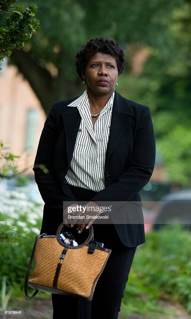Gwen Ifill arrives for a live taping of Meet the Press at NBC's bureau June 15, 2008 in Washington, DC. This week's Meet the Press show was a tribute to host Tim Russert who died at age 58 of a heart attack last week.