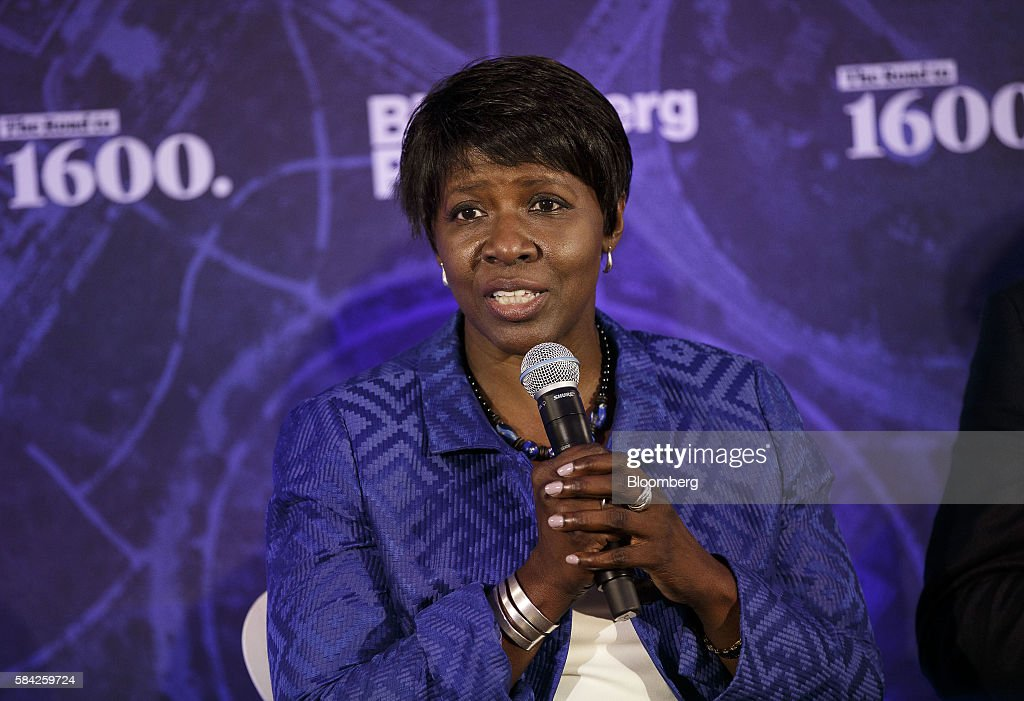 Gwen Ifill comanaging editor of PBS NewsHour speaks during a Bloomberg