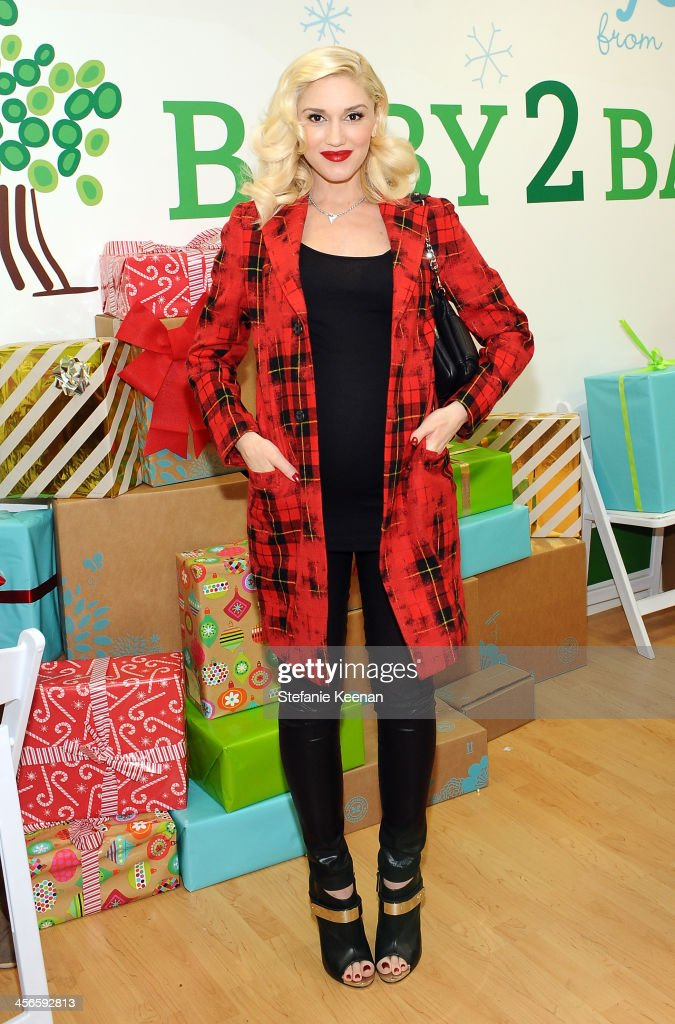 Gwen Stefan attends the Third Annual Baby2Baby Holiday Party presented by The Honest Company on December 14, 2013 in Los Angeles, California.