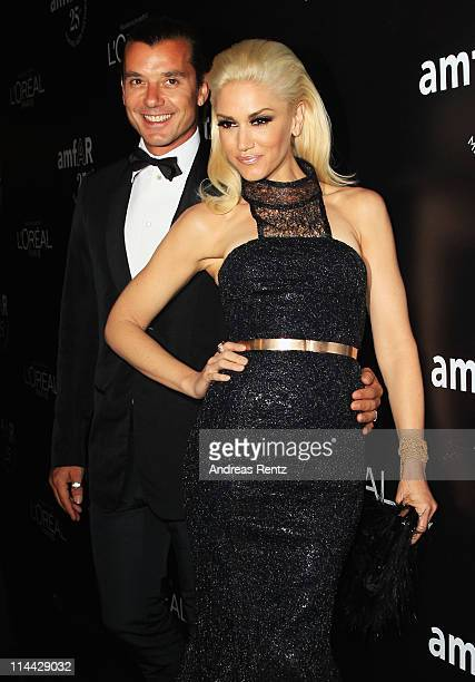Gwen Stefani and Gavin Rossdale attend amfAR's Cinema Against AIDS Gala party during the 64th Annual Cannes Film Festival at Hotel Du Cap on May 19...