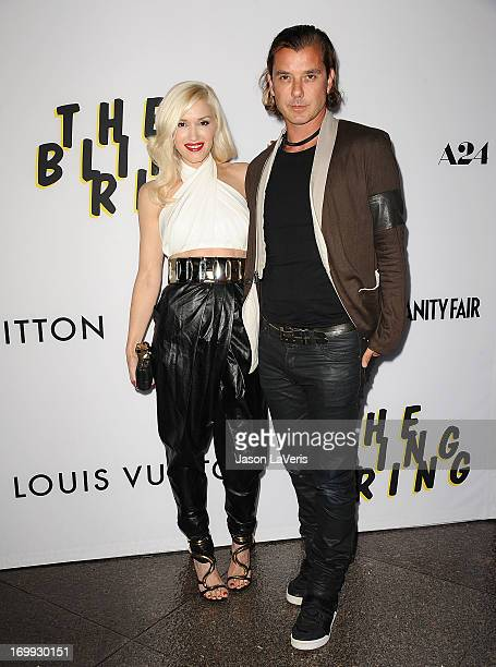 Gwen Stefani and Gavin Rossdale attend the premiere of 'The Bling Ring' at Directors Guild Of America on June 4 2013 in Los Angeles California
