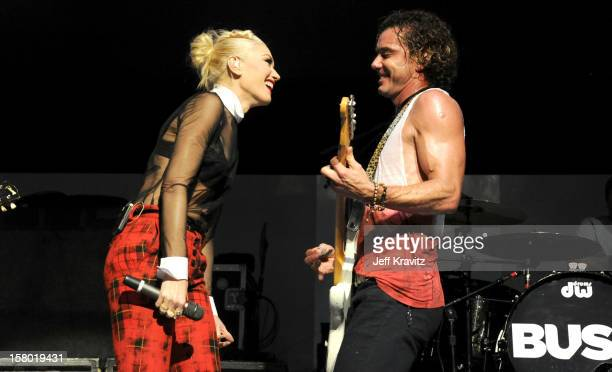 Gwen Stefani and Gavin Rossdale of Bush performs at the KROQ Acoustic Xmas show at Gibson Amphitheatre on December 8 2012 in Universal City California