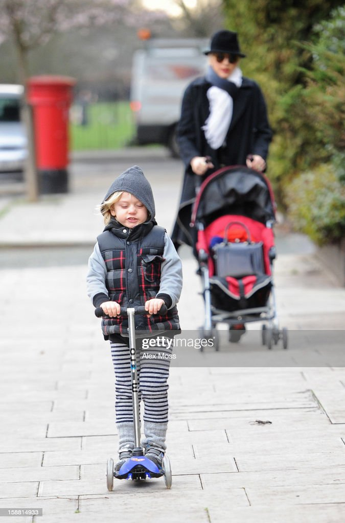 Gwen Stefani and her son Zuma are seen in Primrose Hill on December 30, 2012 in London, England.
