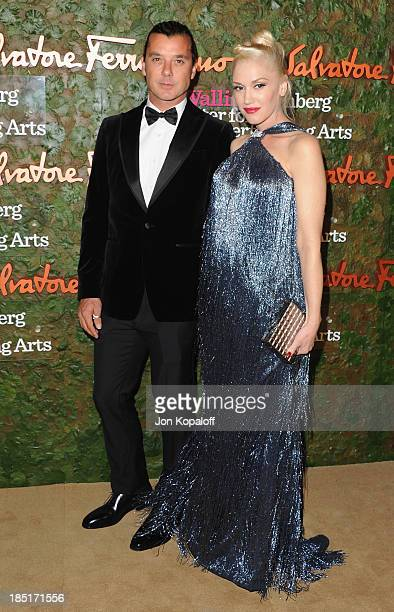 Gwen Stefani and husband Gavin Rossdale arrive at the Wallis Annenberg Center For Performing Arts Inaugural Gala at Wallis Annenberg Center for the...