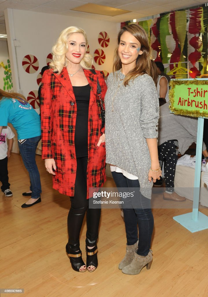 <a gi-track='captionPersonalityLinkClicked' href=/galleries/search?phrase=Gwen+Stefani&family=editorial&specificpeople=156423 ng-click='$event.stopPropagation()'>Gwen Stefani</a> and <a gi-track='captionPersonalityLinkClicked' href=/galleries/search?phrase=Jessica+Alba&family=editorial&specificpeople=201811 ng-click='$event.stopPropagation()'>Jessica Alba</a> attend the Third Annual Baby2Baby Holiday Party presented by The Honest Company on December 14, 2013 in Los Angeles, California.