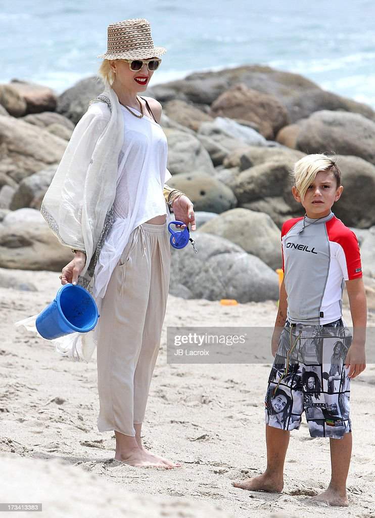 <a gi-track='captionPersonalityLinkClicked' href=/galleries/search?phrase=Gwen+Stefani&family=editorial&specificpeople=156423 ng-click='$event.stopPropagation()'>Gwen Stefani</a> and <a gi-track='captionPersonalityLinkClicked' href=/galleries/search?phrase=Kingston+Rossdale&family=editorial&specificpeople=4484338 ng-click='$event.stopPropagation()'>Kingston Rossdale</a> are seen in Malibu on July 13, 2013 in Los Angeles, California.