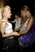 Gwen Stefani and Naomi Campbell during Olympus Fashion Week Spring 2006 Gwen Stefani for LAMB Front Row and Backstage at Roseland in New York City...