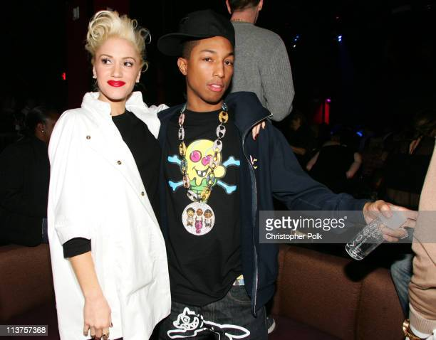 Gwen Stefani and Pharrell during Pharrell/TMobile 2005 Billboard Music Awards After Party Inside at The Venetian in Las Vegas Nevada United States