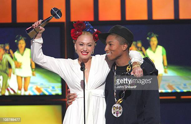 Gwen Stefani and Pharrell Williams during 2005 Billboard Music Awards Show at MGM Grand Hotel in Las Vegas Nevada United States