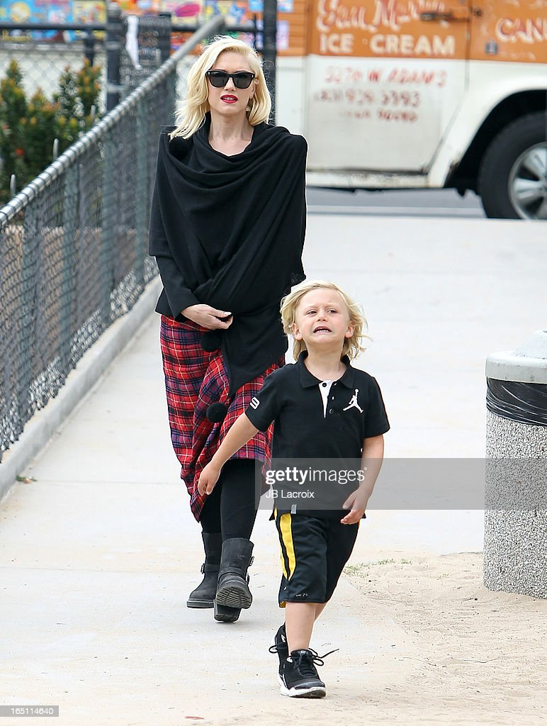 Gwen Stefani and Zuma Rossdale are seen on March 30, 2013 in Los Angeles, California.