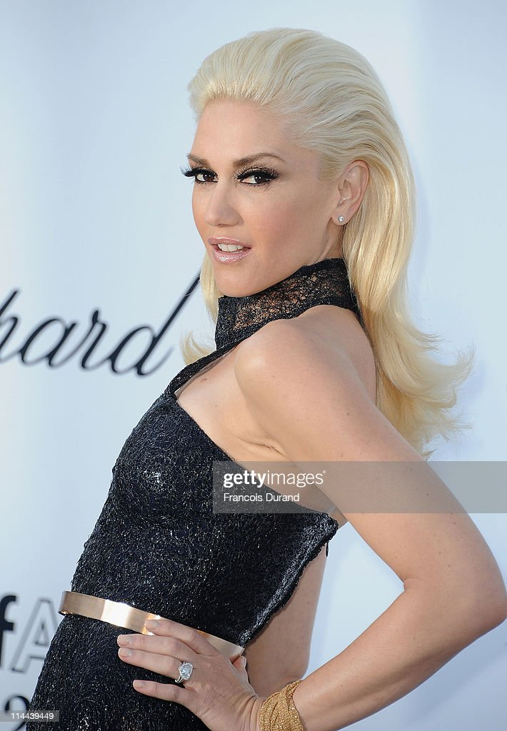 <a gi-track='captionPersonalityLinkClicked' href=/galleries/search?phrase=Gwen+Stefani&family=editorial&specificpeople=156423 ng-click='$event.stopPropagation()'>Gwen Stefani</a> attends amfAR's Cinema Against AIDS Gala during the 64th Annual Cannes Film Festival at Hotel Du Cap on May 19, 2011 in Antibes, France.