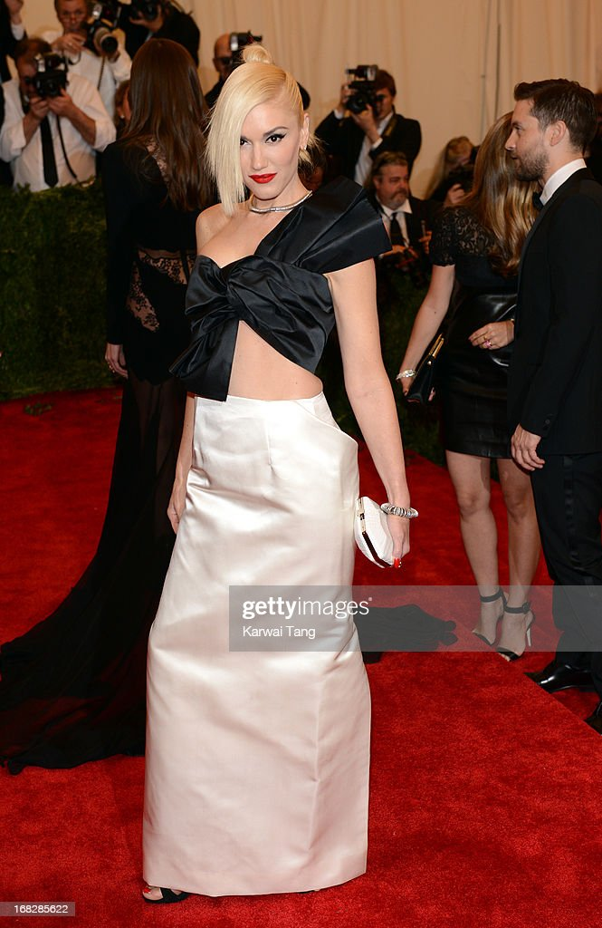 <a gi-track='captionPersonalityLinkClicked' href=/galleries/search?phrase=Gwen+Stefani&family=editorial&specificpeople=156423 ng-click='$event.stopPropagation()'>Gwen Stefani</a> attends the Costume Institute Gala for the 'PUNK: Chaos to Couture' exhibition at the Metropolitan Museum of Art on May 6, 2013 in New York City.