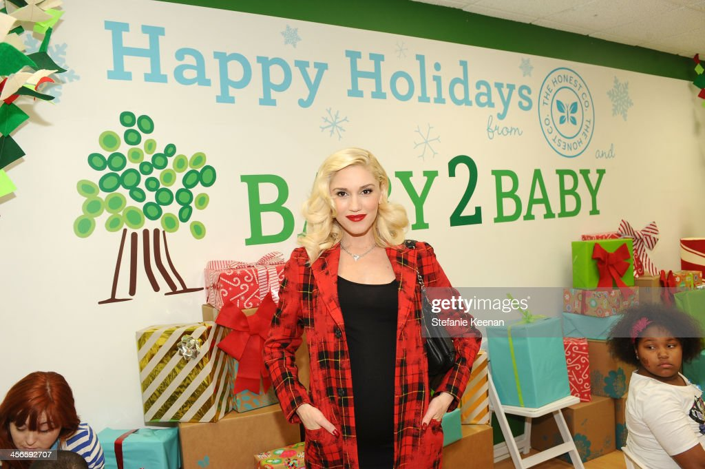 <a gi-track='captionPersonalityLinkClicked' href=/galleries/search?phrase=Gwen+Stefani&family=editorial&specificpeople=156423 ng-click='$event.stopPropagation()'>Gwen Stefani</a> attends the Third Annual Baby2Baby Holiday Party presented by The Honest Company on December 14, 2013 in Los Angeles, California.