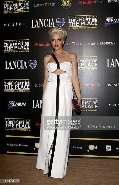 Gwen Stefani attends the 'This Must Be The Place' party hosted by Lancia during the 64th Cannes Film Festival at Plage La Mandala on May 20 2011 in...