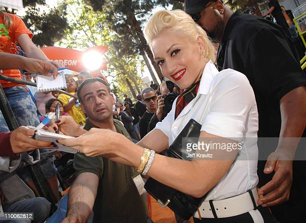 Gwen Stefani during Nickelodeon's 20th Annual Kids' Choice Awards Orange Carpet at Pauley Pavilion UCLA in Westwood California United States