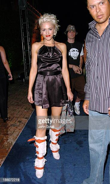 Gwen Stefani during Stuff Magazine and Virgin Mobile VMA Party Hosted by Missy Elliot and Dave Meyers Arrivals at Star Island in Miami California...