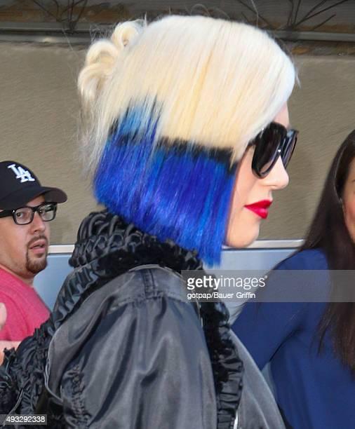 Gwen Stefani hair detail is seen ay LAX on October 18 2015 in Los Angeles California