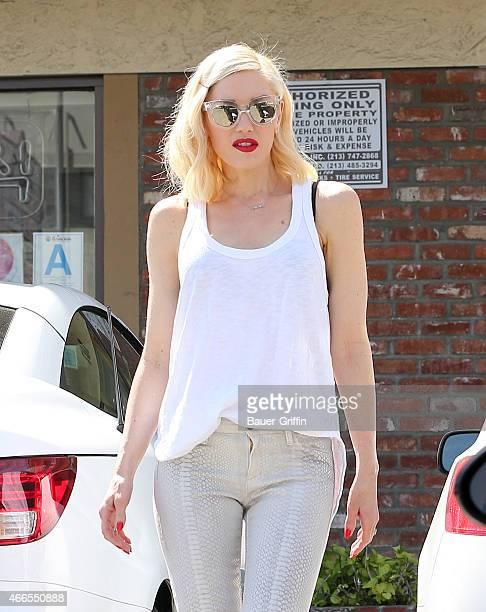 Gwen Stefani is seen in Los Angeles on March 16 2015 in Los Angeles California