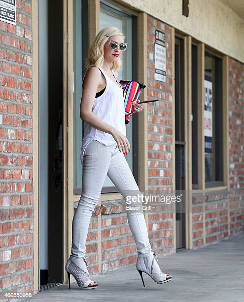 Gwen Stefani is seen in Los Angeles on March 16 2015 in Los Angeles California