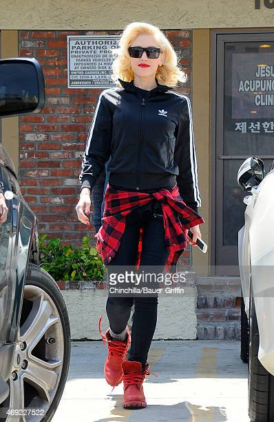 Gwen Stefani is seen on April 10 2015 in Los Angeles California