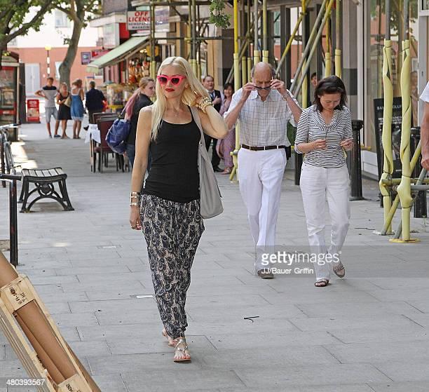 Gwen Stefani is seen on August 01 2013 in London United Kingdom