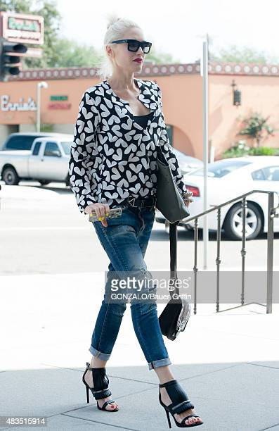 Gwen Stefani is seen on August 09 2015 in Los Angeles California