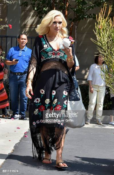 Gwen Stefani is seen on August 13 2017 in Los Angeles California