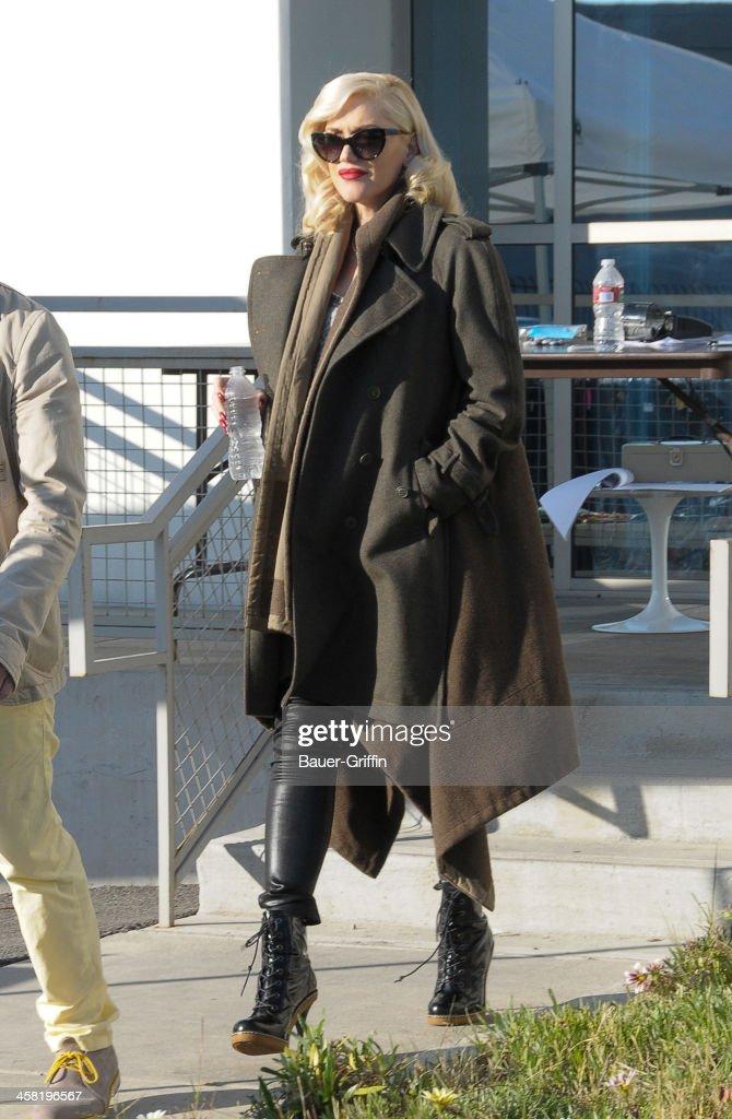 Gwen Stefani is seen on December 20, 2013 in Los Angeles, California.