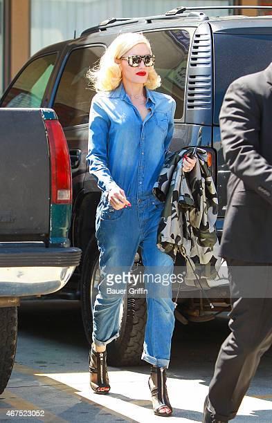 Gwen Stefani is seen on March 25 2015 in Los Angeles California