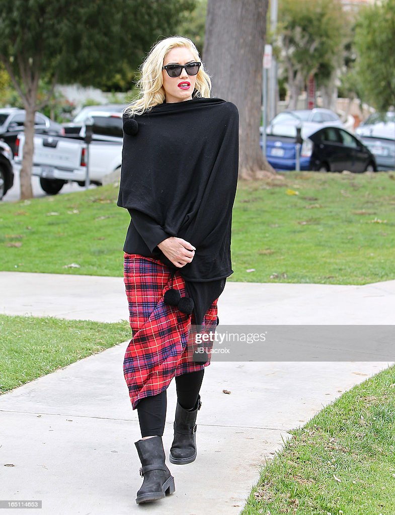 Gwen Stefani is seen on March 30, 2013 in Los Angeles, California.