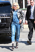 Gwen Stefani is seen with a bodyguard on March 25 2015 in Los Angeles California