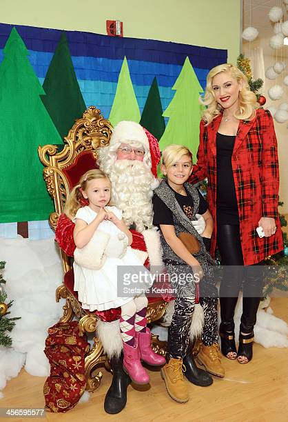 Gwen Stefani Kingston Stefani and Stella Stefani attend the Third Annual Baby2Baby Holiday Party presented by The Honest Company on December 14 2013...