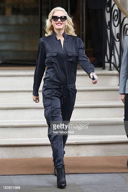 Gwen Stefani leaves her hotel on September 27 2012 in London England