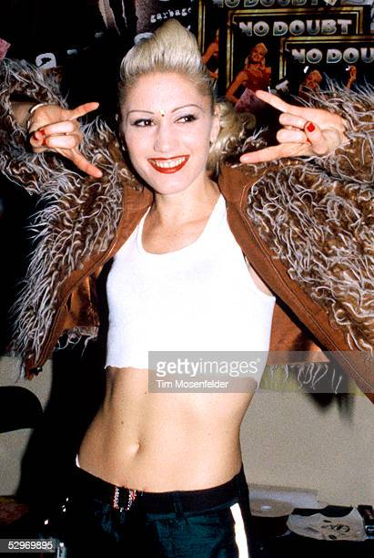 Gwen Stefani of No Doubt backstage at the Berkely Community Theater on December 15 1995 in Berkely California