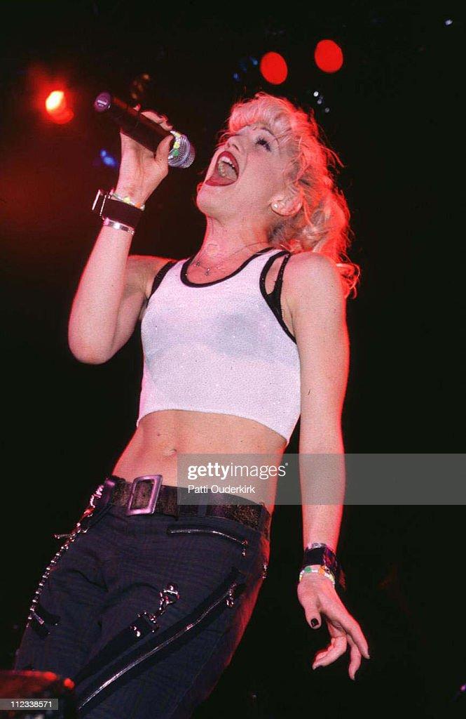 Gwen Stefani of No Doubt during No Doubt Concert at Nassau Coliseum 1996 at Nassau Veterans Memorial Coliseum in Uniondale New York United States