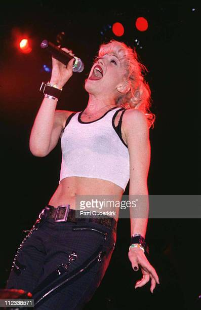 Gwen Stefani of No Doubt during No Doubt Concert at Nassau Coliseum 1996 at Nassau Veterans Memorial Coliseum in Uniondale New York United States
