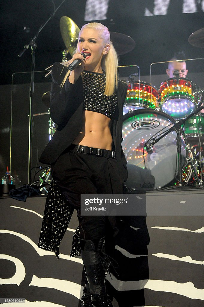 Gwen Stefani of No Doubt performs at the KROQ Acoustic Xmas show at Gibson Amphitheatre on December 9, 2012 in Universal City, California.