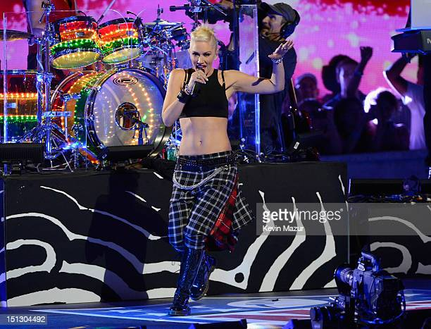 Gwen Stefani of No Doubt performs during the 2012 NFL KickOff Concert in Rockefeller Center on September 5 2012 in New York City