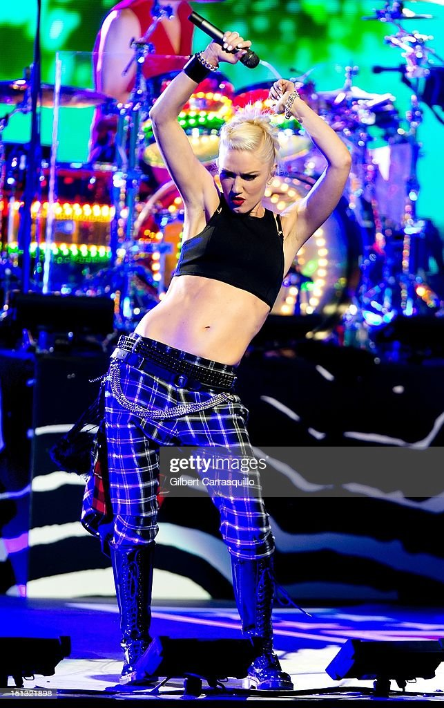 <a gi-track='captionPersonalityLinkClicked' href=/galleries/search?phrase=Gwen+Stefani&family=editorial&specificpeople=156423 ng-click='$event.stopPropagation()'>Gwen Stefani</a> of No Doubt performs during the 2012 NFL Kick-Off Concert in Rockefeller Center on September 5, 2012 in New York City.