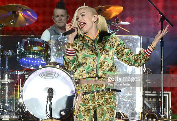 Gwen Stefani of No Doubt performs during the Bottle Rock Napa Valley Music Festival at Napa Valley Expo on May 31 2015 in Napa California